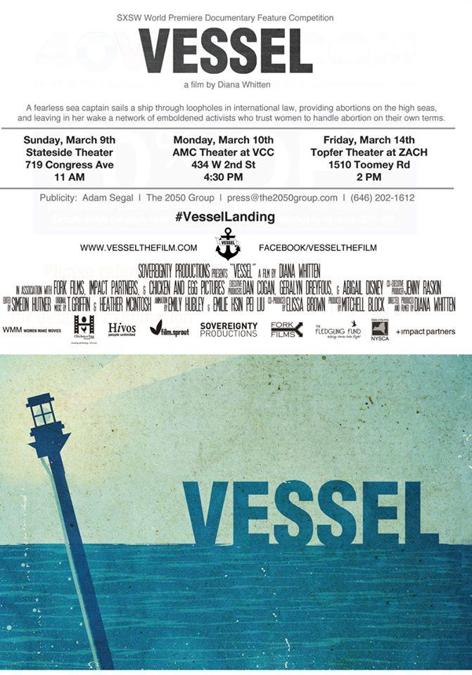 """Vessel"" is having its World Premiere at SXSW."