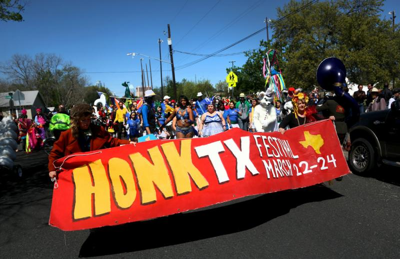 """Honk Texas is like 20 renegade brass bands and community street bands,"" says cofounder Jason Fialkoff."
