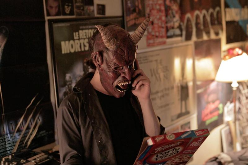 """Buzzard"" features a character who feels at home in a devil mask."