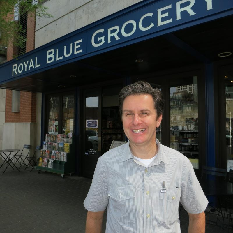 Craig Stealy is one of the owners of Royal Blue Grocery. The store has performed so well, Stealy and his partners are working on getting store number 6 ready.