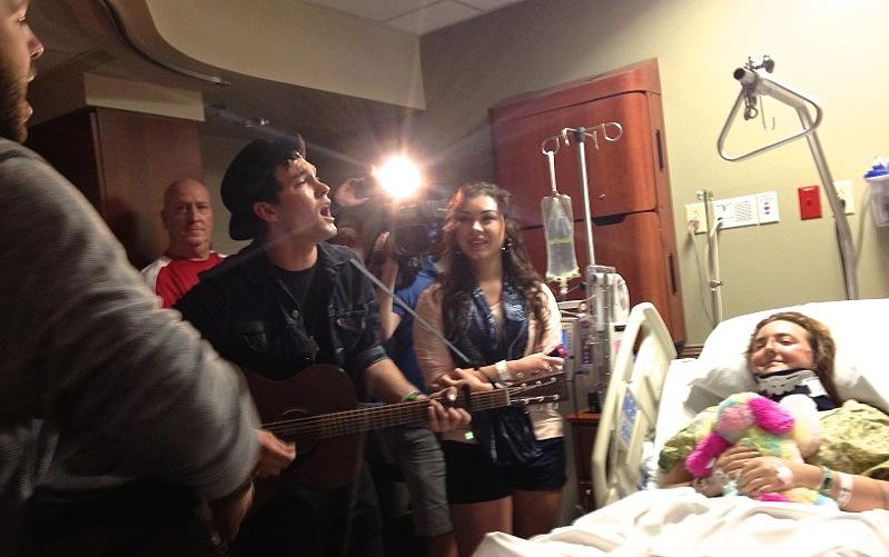 Phoenix-based Jared & The Mill visited Mason Endres at St. David's Medical Center on March 15, 2014.
