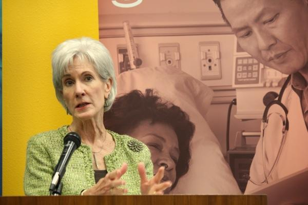 U.S. Health and Human Services Secretary Kathleen Sebelius speaks in Austin on March 28, 2014, days before the deadline to sign up for health insurance through the federal marketplace.