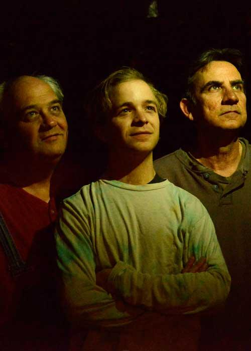 Michael Stuart, Jon Cook, and Ken Webster in 'The Drawer Boy'