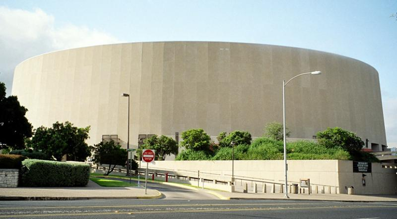 The Frank Erwin Center sits in the center of the stretch of Red River Street that will remain closed until 2015.
