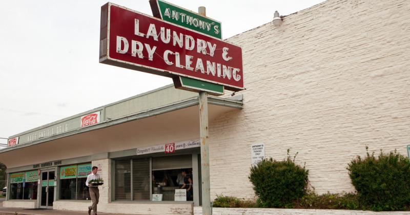 Anthony's Laundry & Dry Cleaning in Austin's Clarksville neighborhood. Architectural historians from all over the country will be gathering in Austin this week.