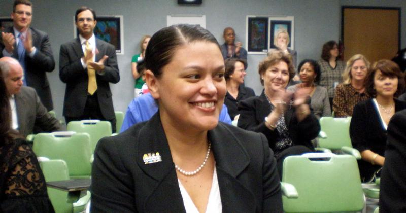 Superintendent Meria Carstarphen photographed in 2009. Her final AISD board meeting was Monday evening.
