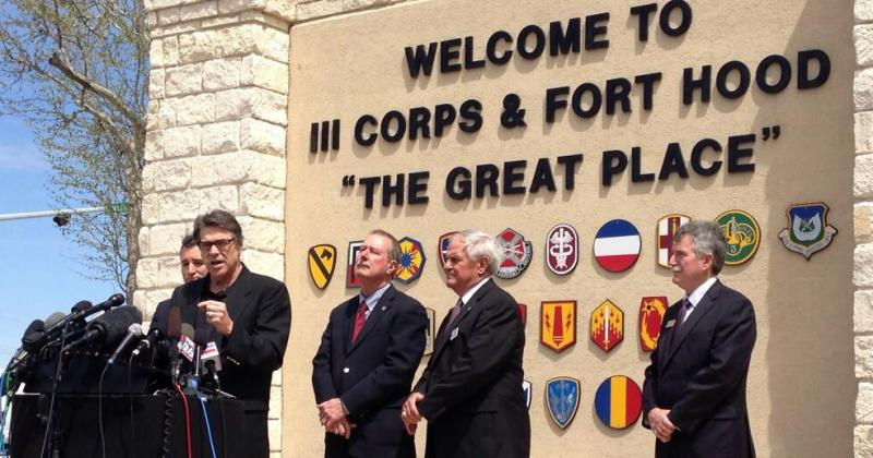 Gov. Rick Perry and U.S. Sen. Ted Cruz visited Fort Hood today,and met with victims and first responders.