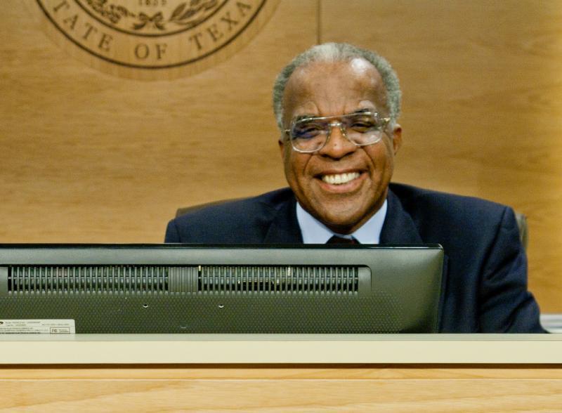 Travis County Judge Samuel T. Biscoe.