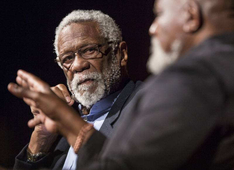 NBA legend Bill Russell talked about the role he played in helping other black athletes during the Civil Rights Summit.