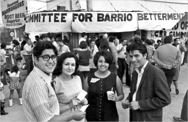 Rosie Castro (second from right), as a Raza Unida candidate for City Council in 1971.