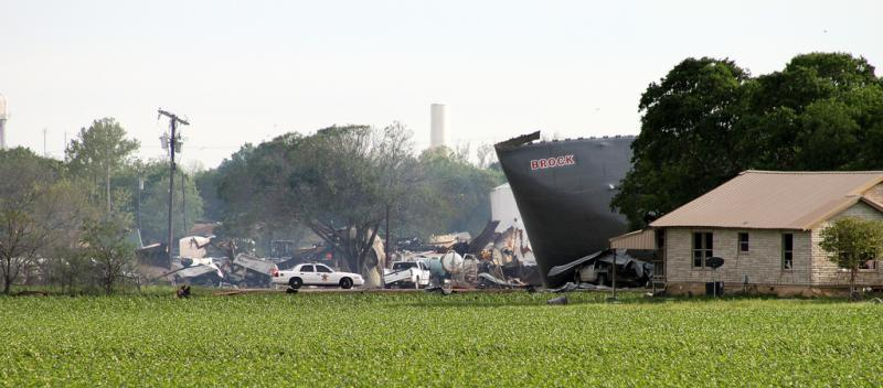 A scene from West after the explosion on April 17, 2013.