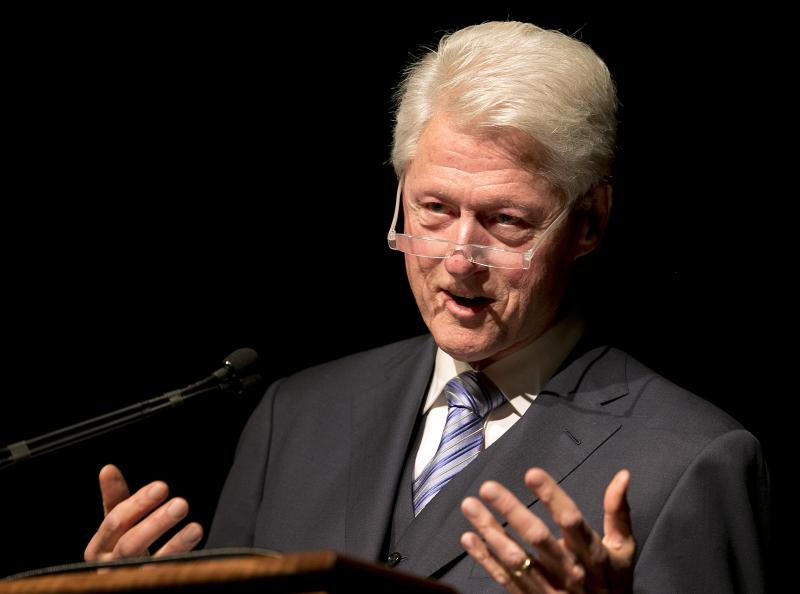 Former President Bill Clinton addresses the audience during the Civil Rights Summit at the LBJ Presidential Library on the University of Texas campus on Wednesday, April 9, 2014.