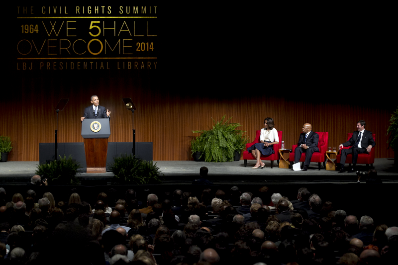 President Obama spoke before the Civil Rights Summit on Apr. 10, 2014.