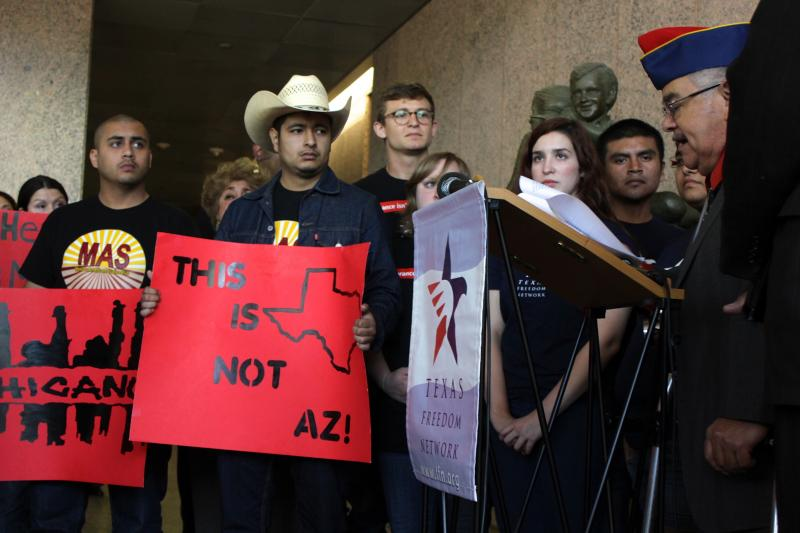 Supporters of a statewide standard for teaching Mexican-American studies in Texas spoke before a hearing of the State Board of Education on April 8, 2014.