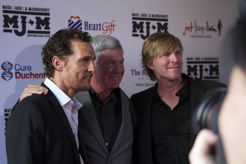 Matthew McConaughey, Mack Brown and Jack Ingram came together Thursday night for the second annual fundraiser for their foundation MJ&M.