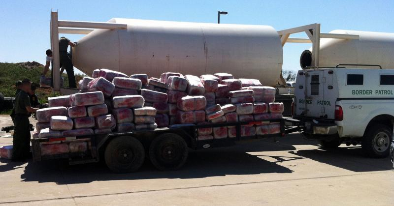 Border agents seized a total of 580 bundles of marijuana – totaling 11,973 pounds – from a truck in Del Rio, Texas.
