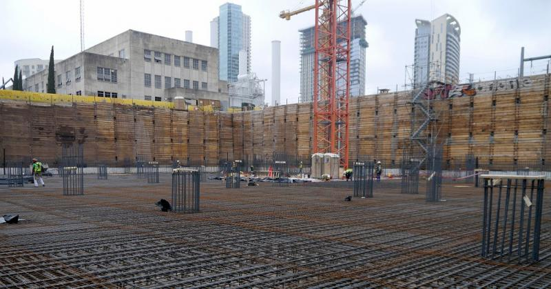 Approximately 1,000 concrete trucks are needed to pour a five-foot foundation for Austin's new central library. The 24-hour pour starts tonight at 10 p.m.