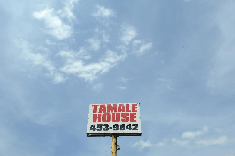 A view of the sign on the final day at Tamale House #3 on Airport Blvd. Tamale House will close in the wake of owner Robert Vasquez's death.