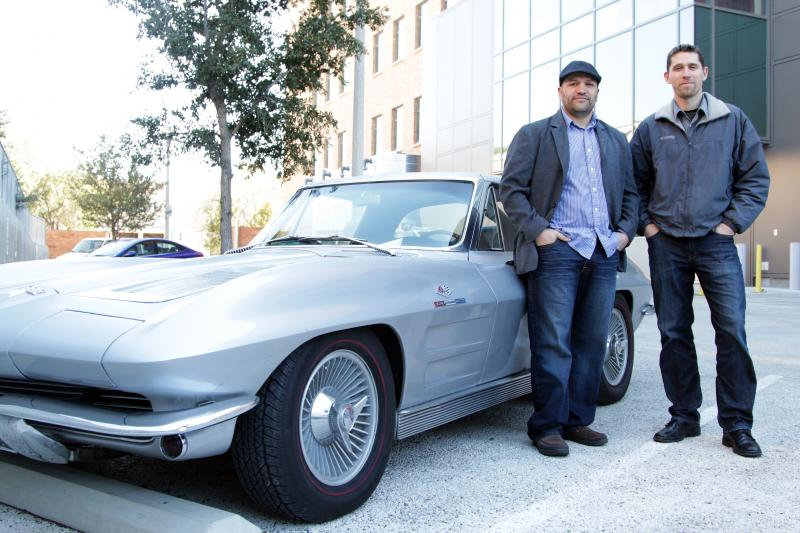 Antonio Brunet and Yusuf Johnson with their 1963 split-window Corvette.
