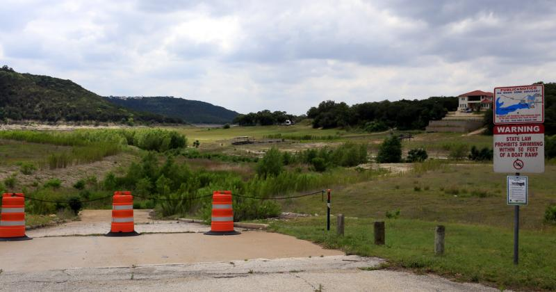 The public boat ramp at Cypress Creek Park on Lake Travis has been out of use since the water receded past its end in 2011. Since then, the entire lagoon on which the park is situated has dried.