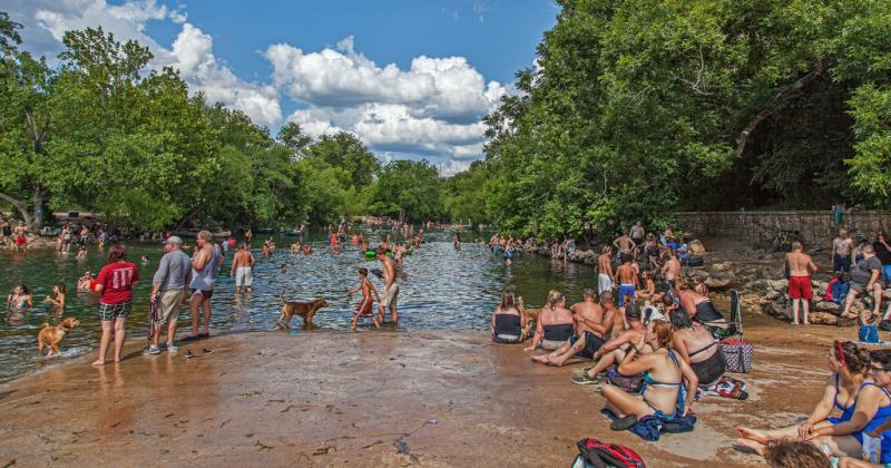Is Barton Springs totally overrated? According to these contrary Yelp reviews, apparently so.
