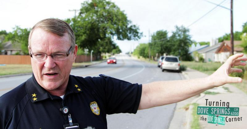 Ron Potts makes sure the city's codes and regulations are observed in Dove Springs. His three major challenges are trash piles, overgrown weeds and grass and broken fences.