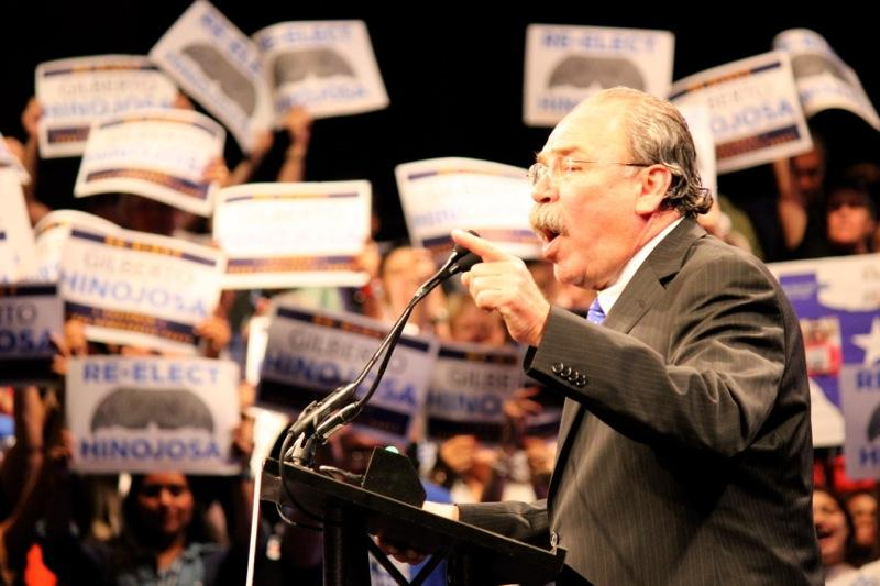 Texas Democratic Party Chair Gilberto Hinojosa speaks at the Texas Democratic Convention in Dallas on June 27, 2014.