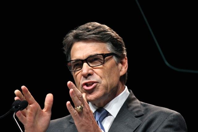 Gov. Rick Perry kicked off the Texas Republican convention this morning in Fort Worth.