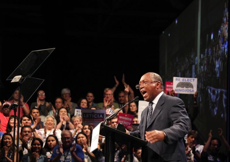 State Rep. Sylvester Turner, D-Houston, fires up the crowd at the 2014 Texas Democratic Convention in Dallas on June 27, 2014.