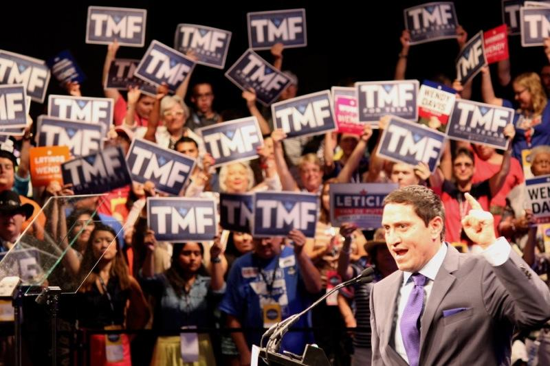 State Sen. Trey Martinez Fisher speaks at the Texas Democratic Convention in Dallas on June 27, 2014.