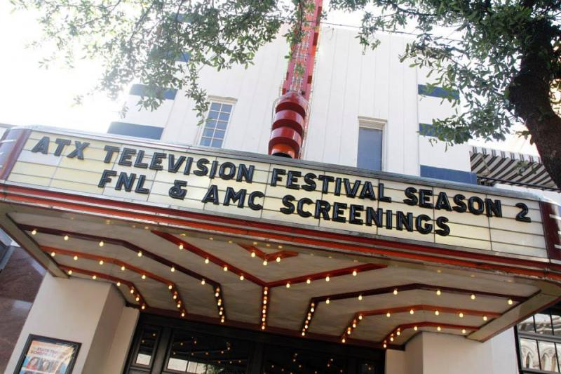 The marquee of the State Theatre during last year's ATX Television Festival.