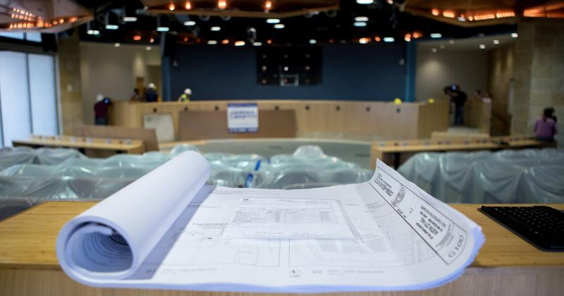 Earlier this month, crews began renovating the dais in City Hall in order to fit 11 council members. The filing period to run for council this fall opened this week.