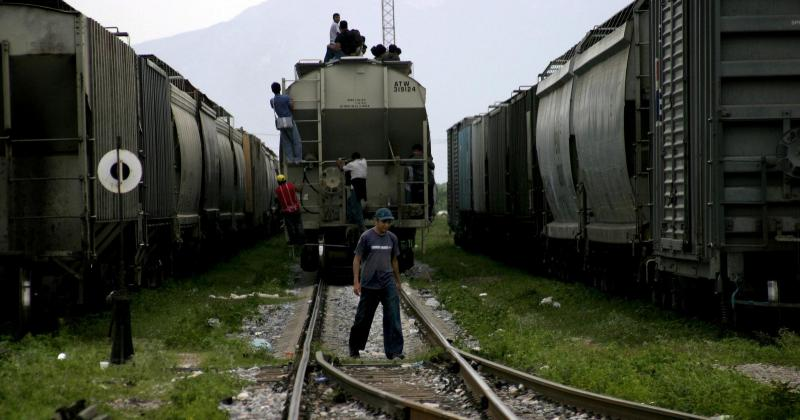 "Many Central American immigrants catch freight trains on the way to the U.S.-Mexico border. These trains are commonly known as ""La Bestia."" A song of the same name refers to the dangerous journey many find aboard such trains."