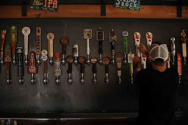 The taps at Craft Pride on Rainey Street.