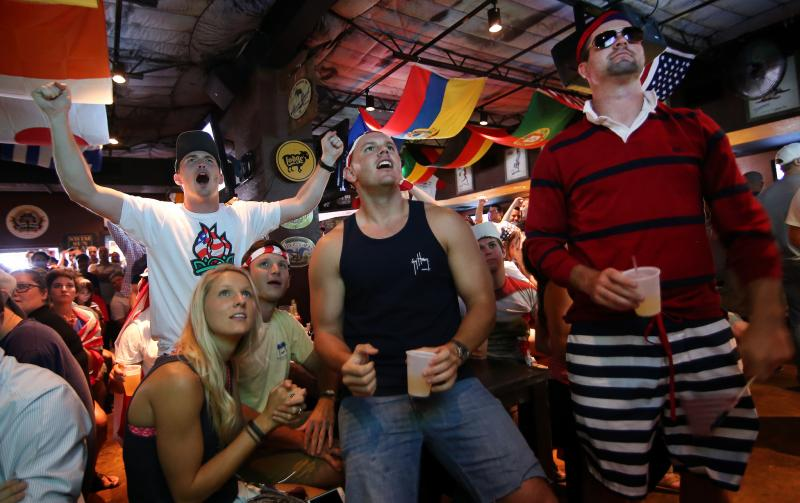 Soccer fans fill the Black Sheep Lodge in south Austin during the USA vs. Germany World Cup match on June 26.