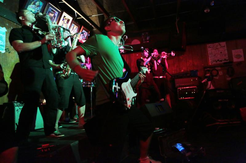 The Skroks rock the Hole in the Wall with their brand of brass, ska and rock.