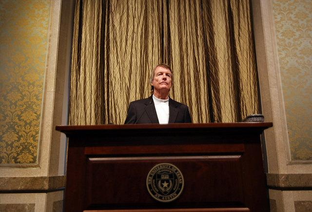 Embattled University of Texas President Bill Powers resigned today under the threat of firing from the university's board of regents.
