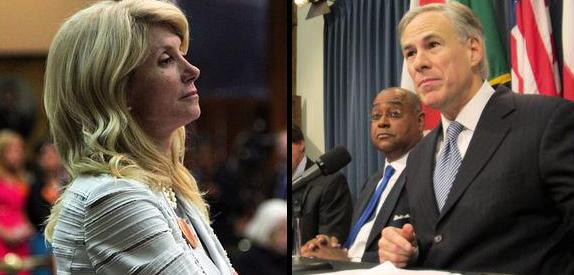 Wendy Davis (left) and Greg Abbott (right) have raised $27 million and $28 million respectively in their gubernatorial campaigns.