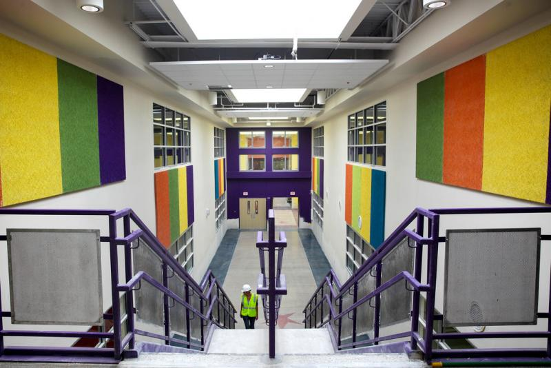 A look at a corridor in the new Jaime D. Padron Elementary School in North Austin.