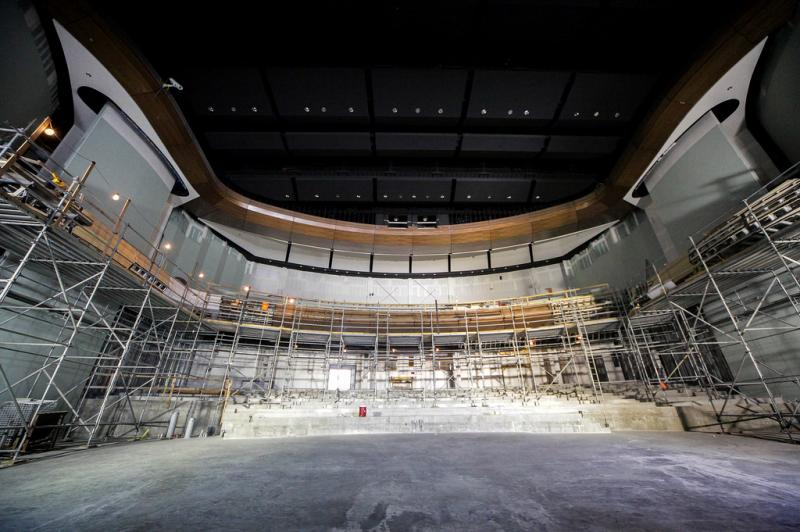 Austin ISD expects the Performing Arts Center to be completed by November. This is the performance stage that will seat 1,200 people.