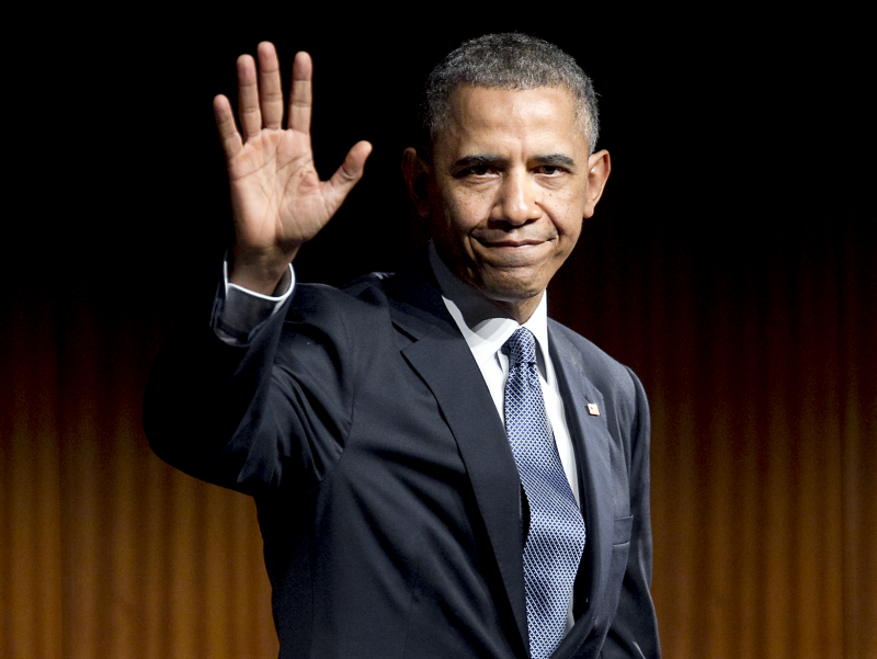 President Obama during his last visit to Austin for a Civil Rights Summit in April