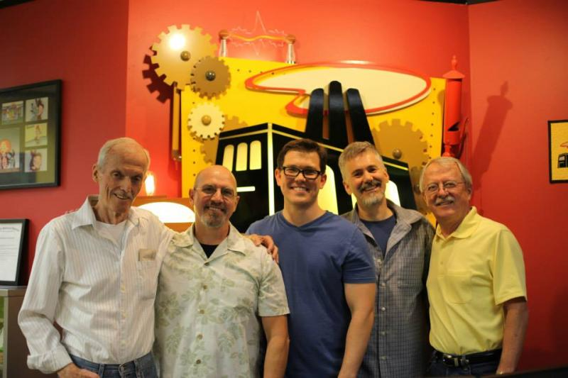 Powerhouse Animation owners with Don Bluth and Gary Goldman