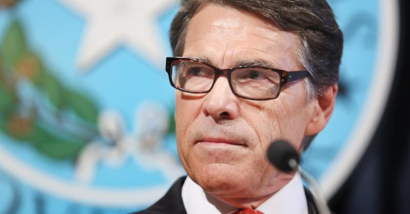 "During a press conference at the Texas State Capitol, Gov. Rick Perry called the indictment against him a farce and an ""abuse of power."""