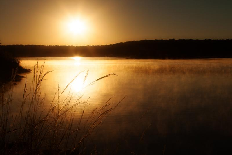Sunrise at Lake Mineral Wells State Park in Mineral Wells, Texas. The mineral-rich water in the area is renowned for its properties – and now it's being bottled.