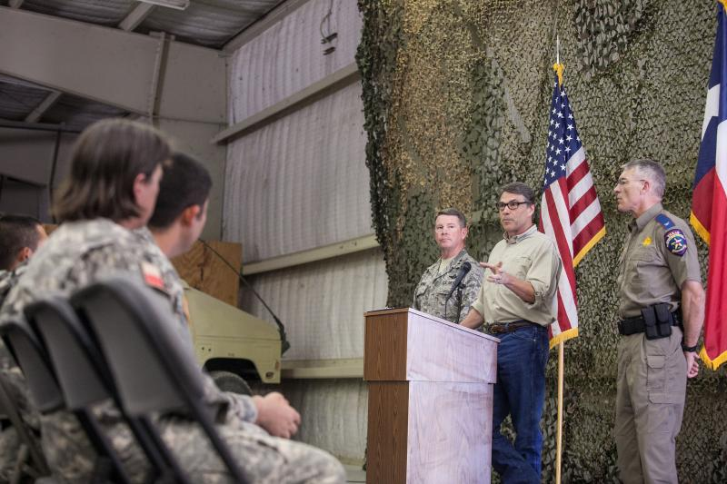 Perry announced the deployment on July 21. So far, 2,200 troops have volunteered to assist in border patrols.