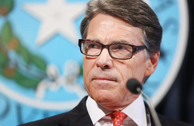 "During a press conference at the State Capitol Texas Gov. Rick Perry calls the indictment against him a farce and an ""abuse of power."""