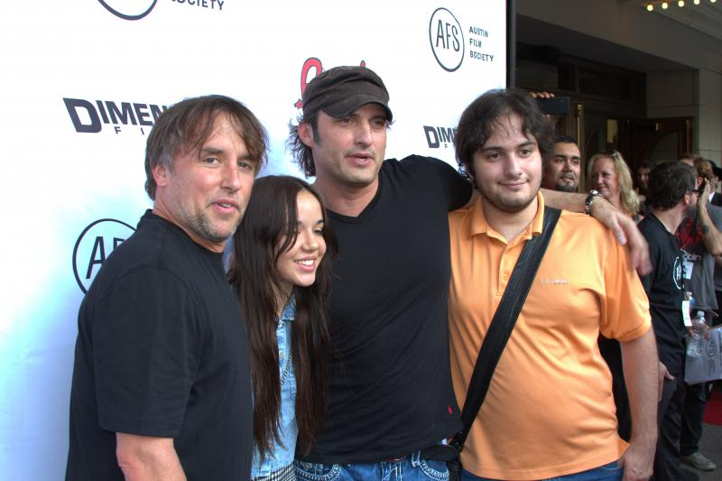 Richard Linklater, Lorelei Linklater, Robert Rodriguez and Rodriguez's son.