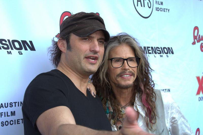 'Sin City' Director Robert Rodriguez and Aerosmith rocker Steven Tyler.
