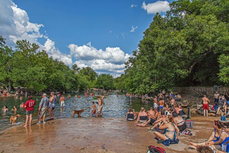 Austin City Council will consider taking a look at turning the spillway outside Barton Springs Pool into a city park.