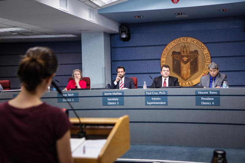 Candidates for the Austin School Board face long hours and late-night meetings.